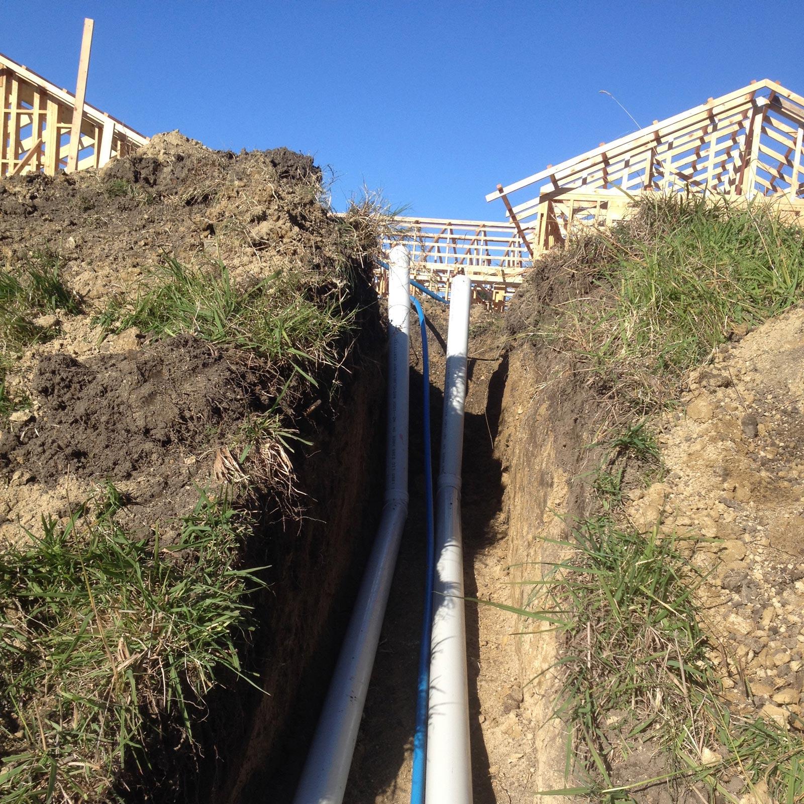cape plumbing drain laying